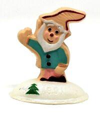Rare 1991 Elf As A Cookie Merry Miniature Ornament - Very Scarce & Cute - Wow