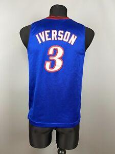 Philadelphia 76ers SIXERS ALLEN IVERSON SHIRT NBA BASKETBALL JERSEY BOYS SIZE L