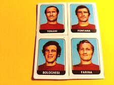 FIGURINA PANINI CALCIATORI 1972/73 n°406 TONANI-FONTANA-BOLOGNESI-FARINA AREZZO