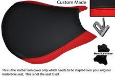 Rojo Y Negro Personalizado se adapta a Ducati Streetfighter Frontal Rider Cuero Funda De Asiento