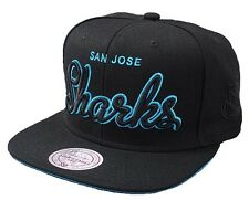 Casquette MITCHELL And NESS - SNAPBACK - San José SHARKS - Neon Script - Blue
