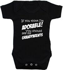 quién necesita Google Grandad bebé crezca//Enterito//pañalero//T-Shirt NB-24m Divertido Regalo
