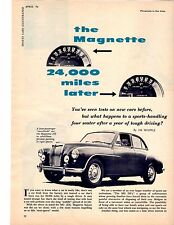 1956 MG MAGNETTE - 24,000 MILES LATER  ~  RARE ORIGINAL 5-PAGE ARTICLE / AD