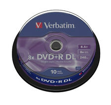 TARRINA 10 DISCOS VERBATIM DVD+R DOBLE CAPA 8.5GB RECORDABLE TOP VENTA OFERTA