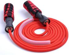 Adjustable Jump Rope with Pro Ball Bearings Anti-Slip Handles, Nylon Rope | Sk