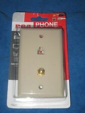 RCA TP062R Telephone Phone Coax Wall Jack Plate, Almond, New!