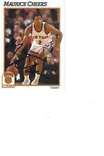 Maurice Cheeks Knicks Autographed Card