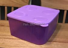 TUPPERWARE COOL N FRESH LILAC PURPLE SQUARE FRIDGE CONTAINER