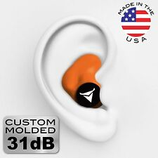 Decibullz Custom Molded Earplugs NRR 31 - Orange