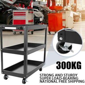 3-Layer Tool Cart Trolley Workbench/kitchen Heavy Duty 4-Wheels Workstaion Shelf