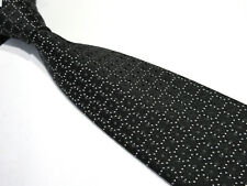 TIE RACK PADDED BLACK GREY WHITE 3.75 INCH POLYESTER NECKTIE