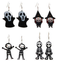 Punk Ghost Skull Skeleton Dangle Drop Earrings Ear Stud Jewelry Halloween Party%