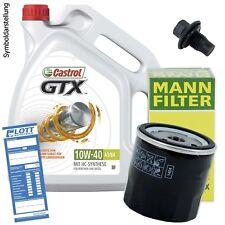Ölwechsel Set 5 Liter 10W-40 Öl Motoröl CASTROL + Ölfilter + Ablassschraube
