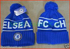 d99da556504 CHELSEA FC BEANIE POM POM soccer CAP HAT SKULLIE WINTER AUTHENTIC   OFFICIAL