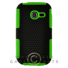 Samsung R480 Freeform 5 Hybrid Mesh Case Black/Green Cover Shell Protector Guard