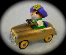 PEDAL PUSHER by Wee Forest Folk, M-270, GOLD, MOUSE EXPO MARDI GRAS Event Piece