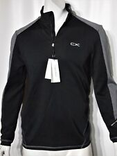 Calvin Klein men's quarter zip stretch interlock atheletic top size large