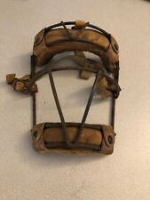 Vintage 1930's Metal Wire & Leather Catchers Umpire Old School Baseball Mask