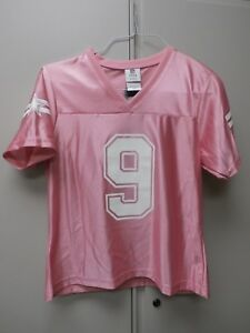 NWT New Romo 9 Dallas Cowboy Jersey Pink Metallic Breast Cancer WOMENS Sz M