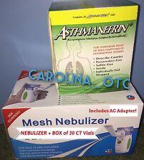 NEW Asthmanefrin ALTERNATIVE Asthma EZ Mesh Nebulizer Inhaler + REFILL 30 Vials