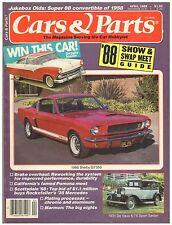 CARS & PARTS magazine April 1988--featuring Ford, Oldsmobile,De Vaux and Mercury