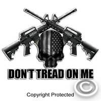 Subdued American Skull Sticker AR15 Gun Cross Don't Tread On Me Military AR-15