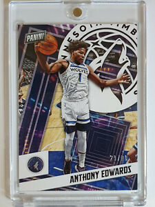 2020 Panini Anthony Edwards #92 Player Of The Day /99 - Ready to Grade