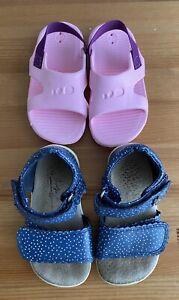 Baby Girls Next Navy Shoes Sandals UK 5 & Pink Pool Sandals UK 4/5