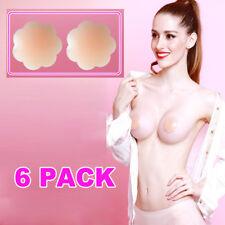 6Pcs Silicone Nipple Pads Reusable Self Adhesive Breast Bra Circle Cover Pasties