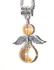 Amazing Mystic Sunshine or Golden  Aura Quartz Crystal Angel Pendant Boxed Gift