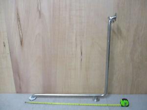 "Shower/Tub Grab Bar, 34"" x 34"" L-Shaped, 1-1/4"" Stainless Steel, Inside Corner"