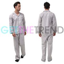 Mens Set Pyjamas Nightwear Long Top Sleeve Sleepwear Pjs Lounge Cotton Trousers