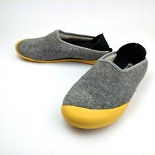 Mahabis Classic Wool Slipper Gray Yellow Removable Sole Women EU 38 US 7.5
