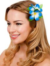 Nouveau Bleu Royal Hibiscus Fleur Pince à cheveux fantaisie robe de mariée Hawaïen Luau Fête