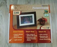 Smartparts Digital Picture Frame 7 Inch Up To 3000 Pictures Wood Look Photos
