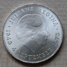 10 florines Países Bajos Juliana Regina 4. de septiembre de 1973 plata