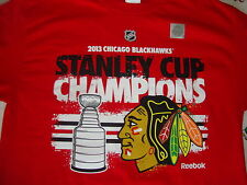 NEW NHL Chicago Blackhawks 2013 Stanly Cup Champions T Shirt Men's size M