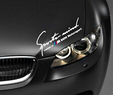Sports Mind Powered by BMW Motorsport Aufkleber Weiß E90 E60 F20 F10 F01 E90