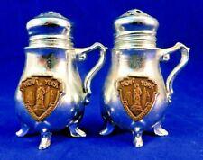 Vintage Teapot Salt & Pepper Shakers Featuring Statue of Liberty Metal Souvenir