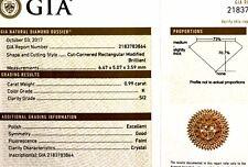 GIA certified loose .99ct SI2 K radiant diamond estate vintage antique princess
