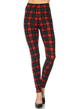 PLUS SIZE Leggings TC/P608 Buttery Soft Always Brushed Plaid