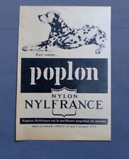 PUB PUBLICITE ANCIENNE ADVERT CLIPPING 261017 / POPELINE POPLON NYLON NYLFRANCE