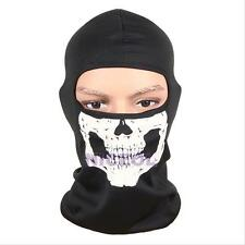 Motorcycle Bike Head Full Face Mask Skull Balaclava Head Hood Neck Protector Cap