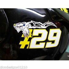 ANDREA IANONNE `29` Moto GP stickers  motorcycle decals SEAGULL graphics x 2