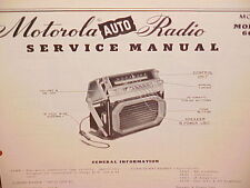 1951 1952 DODGE WAYFARER CORONET MEADOWBROOK MOTOROLA AM RADIO SERVICE MANUAL