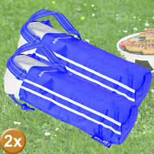2er Set Cool Bolsos 2 Litros Bebidas Botellas Aislado Bolsa Portátil Azul Blanco