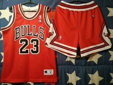 SIZE M Chicago Bulls NBA Basketball Kit (Jersey and Shorts) Champion Jordan #23