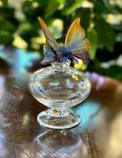 Daum Crystal Butterfly Perfume Bottle Signed Unused Mint