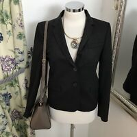 Zara Size s 8 10 grey work blazer single breasted office business career smart