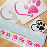 2x Heart And Paw Decal ( Sticker, Paw on heart, paw and heart, dog paw, pet paw)